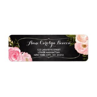 Personalizado moderno de la pizarra de los rosas etiqueta de remitente
