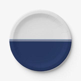 Personalizado moderno de los azules marinos de las platos de papel