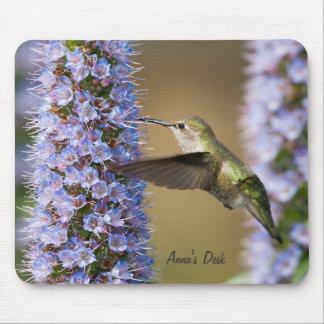Personalizado Mousepad de la flor del colibrí Alfombrillas De Ratón