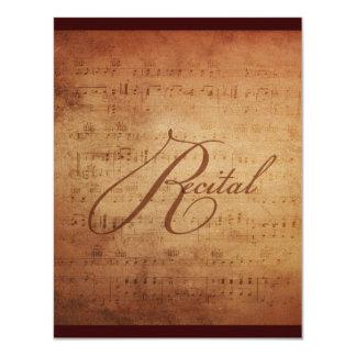 """Personalizado musical de la partitura de la invitación 4.25"""" x 5.5"""""""