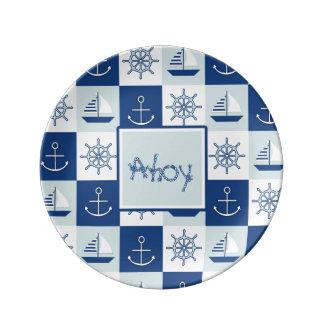 Personalizado náutico plato de cerámica