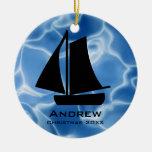 Personalizado navegando el ornamento ornamento para arbol de navidad