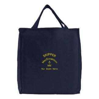 Personalizado navegando nombre del capitán y de bolsas de mano bordadas