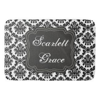 Personalizado negro del damasco y blanco elegante