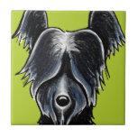 Personalizado negro del retrato de Skye Terrier Azulejo Ceramica