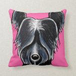 Personalizado negro del retrato de Skye Terrier Cojin