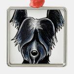 Personalizado negro del retrato de Skye Terrier Adorno Para Reyes