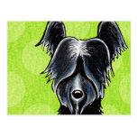 Personalizado negro del retrato de Skye Terrier Postal