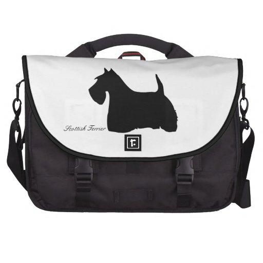 Personalizado negro lindo de la silueta del perro  bolsas para ordenador