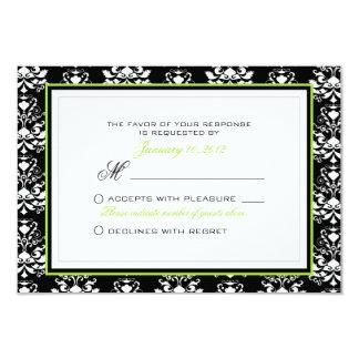 """Personalizado negro y blanco de RSVP del acento Invitación 3.5"""" X 5"""""""