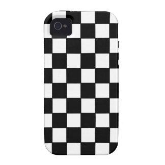 Personalizado negro y blanco del tablero de damas vibe iPhone 4 funda