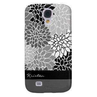 Personalizado negro y blanco elegante del estampad funda para samsung galaxy s4