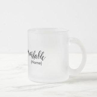Personalizado notable taza de cristal