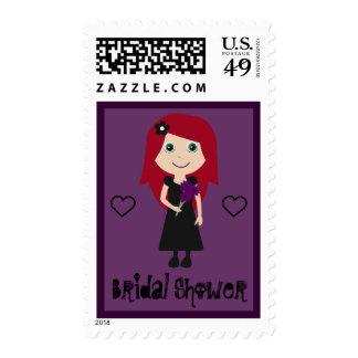 Personalizado nupcial de la púrpura de la ducha de franqueo