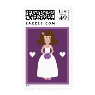 Personalizado nupcial de la púrpura de la ducha de envio