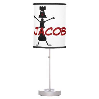 Personalizado para el amor del ajedrez lámpara de escritorio