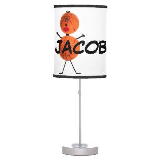 Personalizado para el amor del baloncesto lámpara de mesa