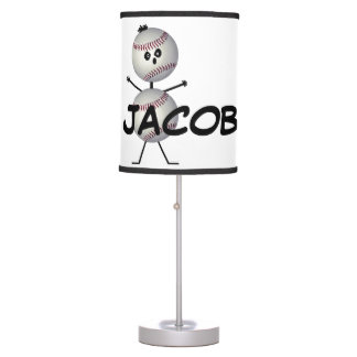 Personalizado para el amor del béisbol lámpara de mesilla de noche