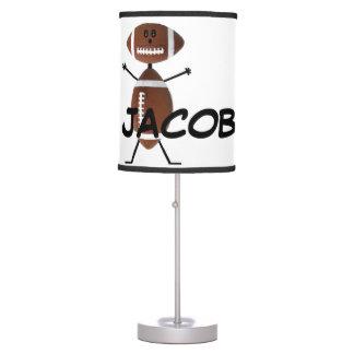 Personalizado para el amor del fútbol lámpara de escritorio