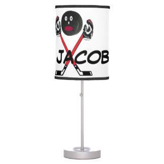 Personalizado para el amor del hockey lámpara de mesilla de noche