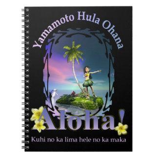 Personalizado para el cuaderno de Yamamoto Hula Oh