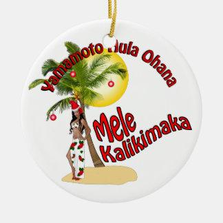Personalizado para el ornamento del navidad de Yam Adorno Para Reyes
