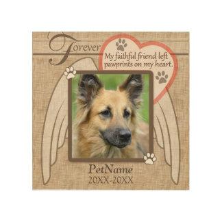 Personalizado para siempre amado de la condolencia cuadros de madera
