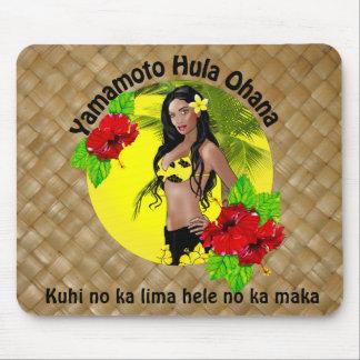Personalizado para Yamamoto Hula Ohana Lauhala Mou Alfombrilla De Ratón