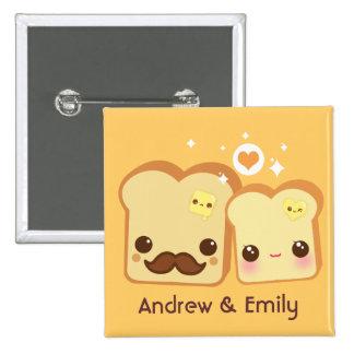 Personalizado - pares lindos de las tostadas de Ka Pin Cuadrado