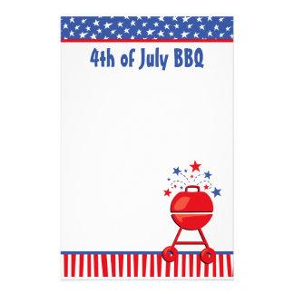 Personalizado patriótico del Bbq Personalized Stationery