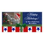 Personalizado patriótico militar del navidad plantilla para tarjeta de foto