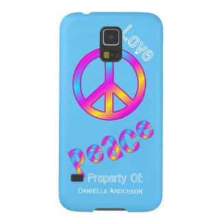 Personalizado: Paz y amor Fundas De Galaxy S5