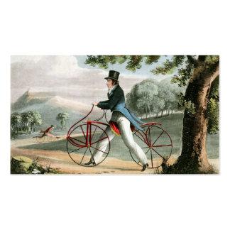 Personalizado peatonal de la bicicleta del vintage plantillas de tarjeta de negocio