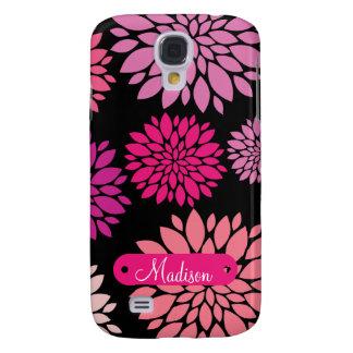 Personalizado personalizado con las flores samsung galaxy s4 cover