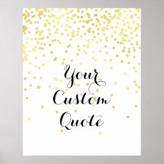 Personalizado personalizado confeti de la póster