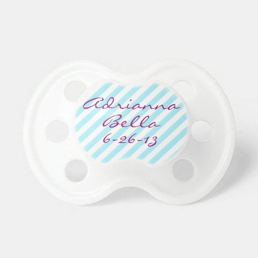 Personalizado personalizado de Binky de la niña de Chupetes Para Bebes