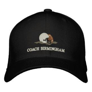 Personalizado personalizado entrenador de fútbol gorras de béisbol bordadas