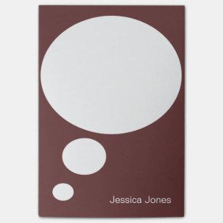Personalizado personalizado redondeado burbuja de  post-it nota