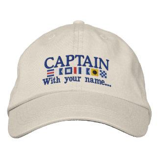 Personalizado personalizado su capitán Nautical Gorra De Beisbol Bordada