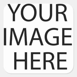 Personalizado personalizado su propia foto pegatina cuadrada
