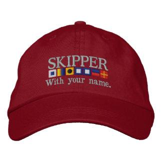Personalizado personalizado sus banderas náuticas gorras de béisbol bordadas