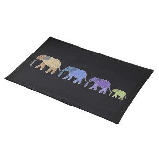 Personalizado Placemats de los elefantes africanos Mantel Individual