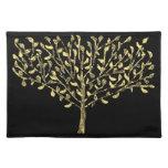 Personalizado Placemats del árbol de la hoja de or Mantel Individual