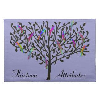 Personalizado Placemats del árbol del loro Mantel