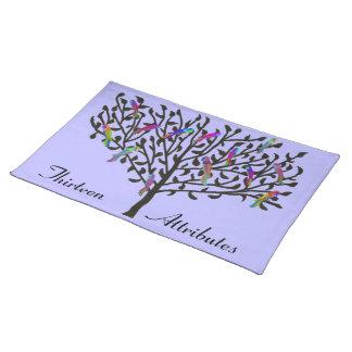 Personalizado Placemats del árbol del loro Manteles