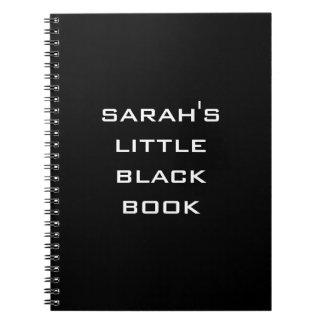 Personalizado poco cuaderno del libro negro