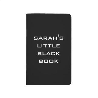 Personalizado poco libro negro cuaderno grapado