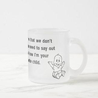 ¡Personalizado preferido del niño escarchado Taza De Café