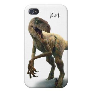 Personalizado prehistórico del dinosaurio iPhone 4 carcasas
