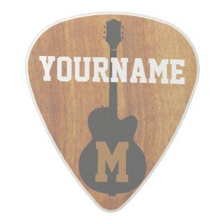 personalizado púa de guitarra acetal